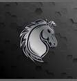 horse head mascot logo design vector image vector image