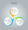 infographic design business concept with 3 options vector image vector image