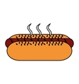 Isolated hot dog food design vector image vector image