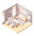 isometric bathroom interior vector image vector image