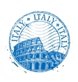 italy logo design template shabstamp or vector image