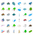 landscape element icons set isometric style vector image vector image