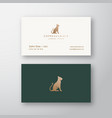 lioness grace abstract logo and business vector image vector image