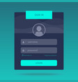 login form design vector image