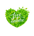 love nature heart vector image