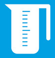 measuring cup icon white vector image vector image