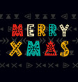 merry christmas greeting card scandinavian style vector image
