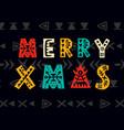 merry christmas greeting card scandinavian vector image