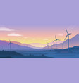 mountain ecology landscape sustainable wind vector image