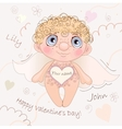 Named Angel Heart card for Valentine Day vector image vector image