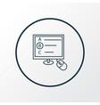 online test icon line symbol premium quality vector image vector image