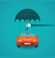 passenger car insurance concept in flat style vector image