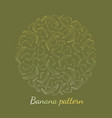 pattern banana outline on a green background vector image
