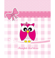 pink owl vector image