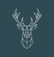 polygonal deer portrait geometric animal vector image vector image