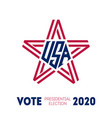 presidential election 2020 in usa poster vector image vector image