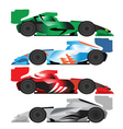 racing cars vector image vector image