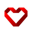 red heart symbol love from ribbon stock vector image vector image