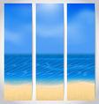 Set cards with summer holiday background vector image vector image
