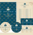 set design elements for seafood restaurant vector image vector image