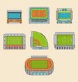 set sport stadiums building vector image