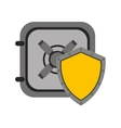 shield security system flat icon vector image vector image