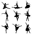 silhouettes ballerinas vector image vector image