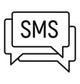 sms marketing icon outline style vector image vector image