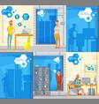 software development posters set vector image vector image