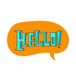 speech bubble with hello quote vector image