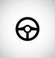 steering wheel symbol vector image vector image