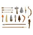 stone age tools set caveman civilization culture vector image