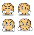 sweet cookies character cartoon set collection vector image vector image
