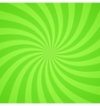 Swirling radial bright green pattern background vector image vector image