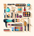 Tools for makeup vector image