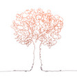 tree color on white vector image vector image