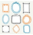 Vintage photo frames Hand drawn collection vector image vector image