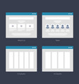 website wireframe layouts ui kits for site map vector image vector image