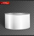 white blank tincan metal tin can vector image vector image
