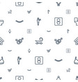 woman icons pattern seamless white background vector image vector image