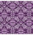 White on purple damask pattern vector image