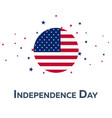 independence day of usa patriotic banner vector image