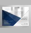 abstract geometric business brochure design vector image vector image
