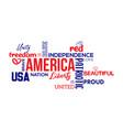 america patriotic word cloud word art vector image