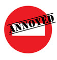 annoyed advertising sticker vector image vector image