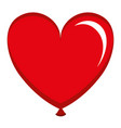 balloon air with heart shape vector image
