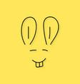 black thin line rabbit muzzle vector image