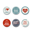 book lover badge book reader badge with a simple vector image vector image