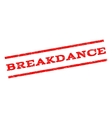 Breakdance Watermark Stamp vector image