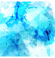 bright blue paint and triangle modern background vector image